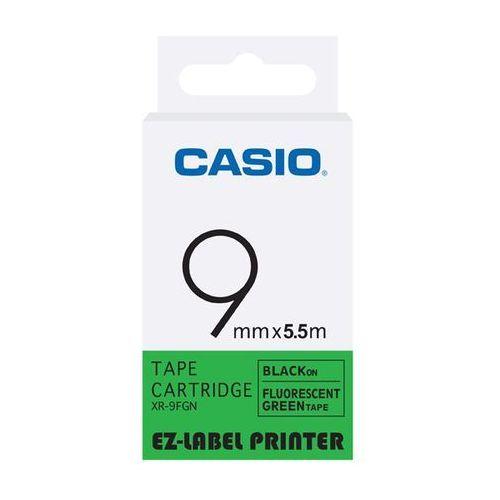 Casio taśma etykiet fluorescencyjna XR-9FGN, XR9FGN