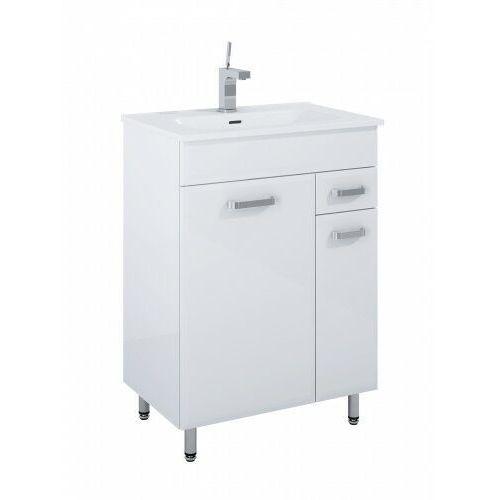 ELITA SET szafka + umywalka Amigo 60 2D 1S white 166466, kolor biały