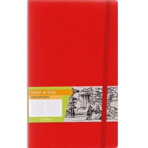 Notes a5 w linię romantyzm czerwony marki Antra