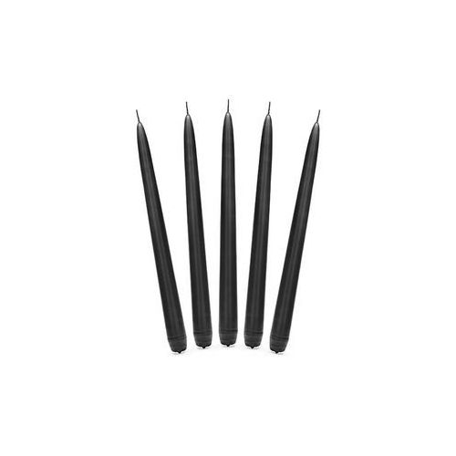 Party deco Świeca stożkowa czarna - 24 cm - 10 szt. (5902230762794)