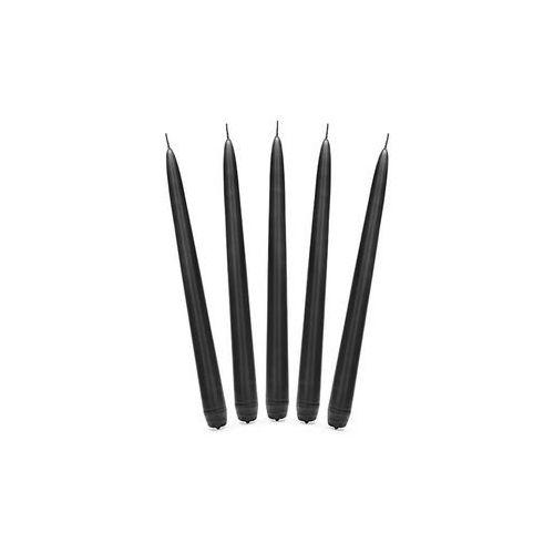 Świeca stożkowa czarna - 24 cm - 10 szt. marki Party deco