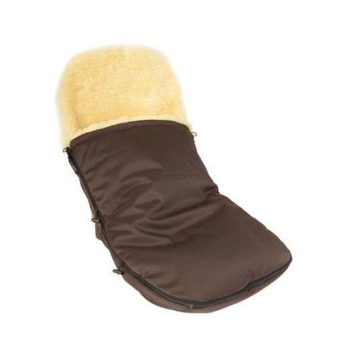 śpiworek na nóżki ze skóry jagnięcej do wózków bugaboo und joolz, brązowy marki Kaiser