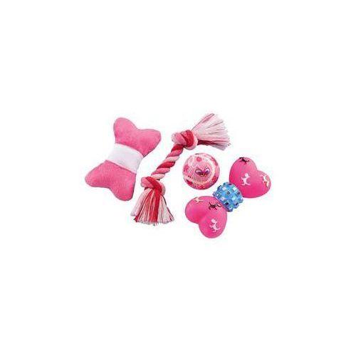 Zabawka dla zwierząt - zestaw startowy dla szczeniaczka 4 szt. różowa marki Nobby