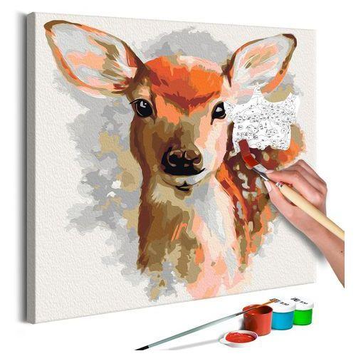 Obraz do samodzielnego malowania - uroczy jelonek marki Artgeist