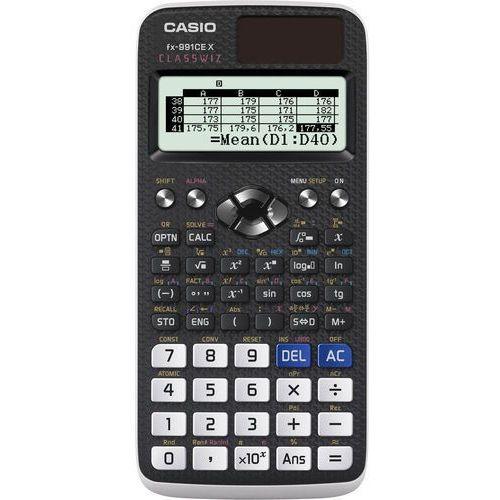 Kalkulator Casio, FX 991 CE X, biała, szkolny, + gratis słuchawki Maxell (4549526602047)