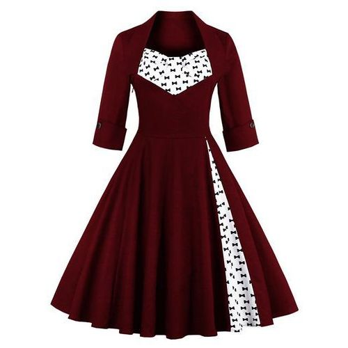 Bowknot Knee Length Dress