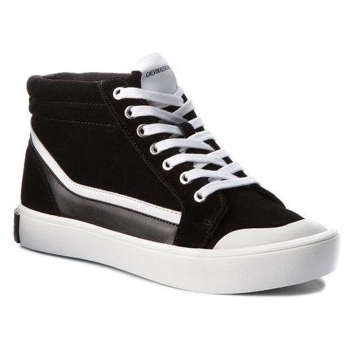 Calvin klein Trampki jeans - dione s1765 black/white/black