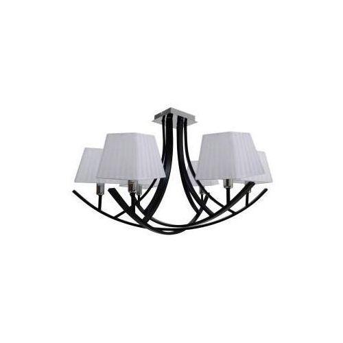 valencia zwis 6x40w e14 czarny / abażur biały 36-30993 - rabaty za ilości. szybka wysyłka. profesjonalna pomoc techniczna. marki Candellux