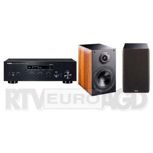 Yamaha MusicCast R-N303D (czarny), Indiana Line Nota 260 X (orzech)