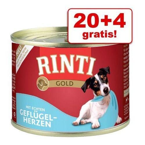 Rinti 20 + 4 gratis! megapakiet  gold, 24 x 185 g - kawałki jagnięciny
