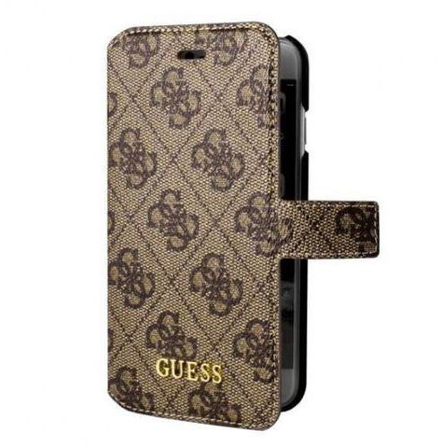 Guess Etui book do iPhone 7 brązowe (GUFLBKP74GB) Darmowy odbiór w 20 miastach!, kolor brązowy