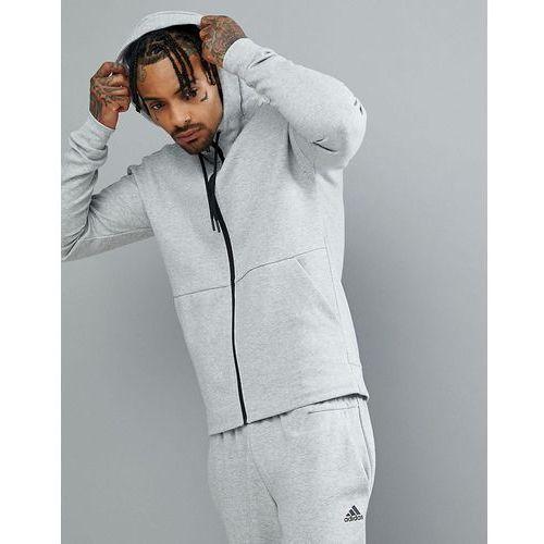 adidas Athletics Stadium Full Zip Hoodie In Grey CG2088 - Grey, kolor szary