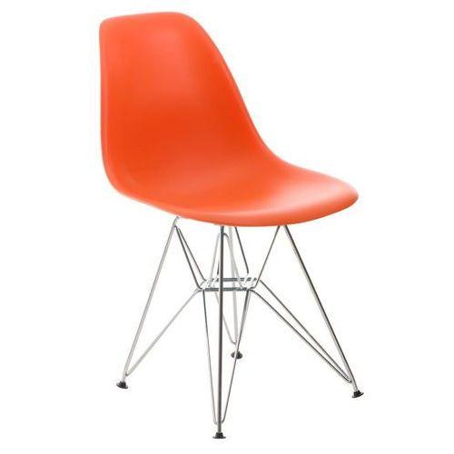 D2.design Krzesło p016 pomaranczowe, chromowane nogi