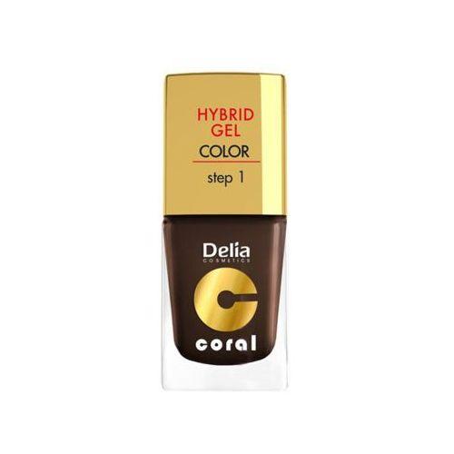 hybrid gel step 1 07 ciemna czekolada żelowy lakier do paznokci marki Delia