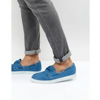 Armani Jeans Washed Canvas Boat Shoes in Blue - Blue
