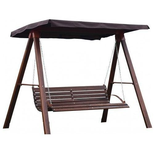 Drewniana huśtawka ogrodowa magis 4x - 180cm marki Producent: elior