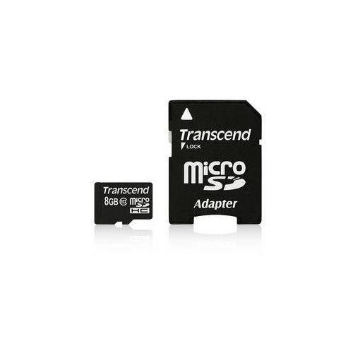 Transcend Karta pamięci  microsdhc 8gb class10 + adapter (ts8gusdhc10)