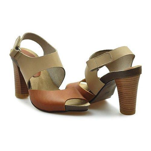Sandały 0775/018-1 brąz/beż lico, Karino