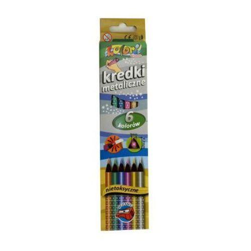 Penmate Kredki premium kolori metaliczne 6 kolorów (5906910818887)
