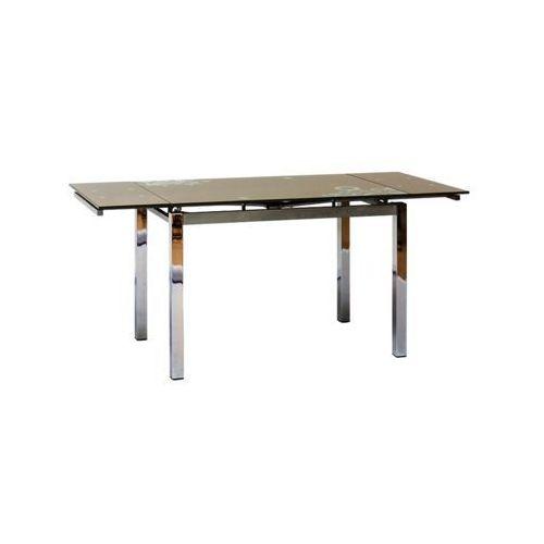 Stół rozkładany GD-017 74x110(170), SIG/STO_GD-017_C.BEZ/CHROM