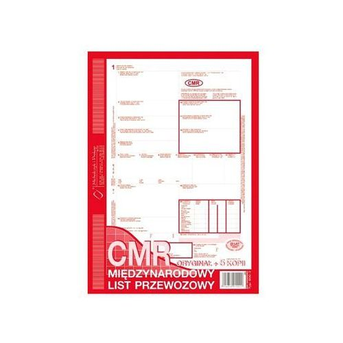 Druk cmr międzynarodowy list przewozowy a4 (o+5k) 78 kartek 800-3 marki Michalczyk i prokop