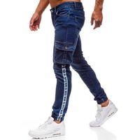 Otantik Spodnie jeansowe joggery męskie granatowe denley 2046