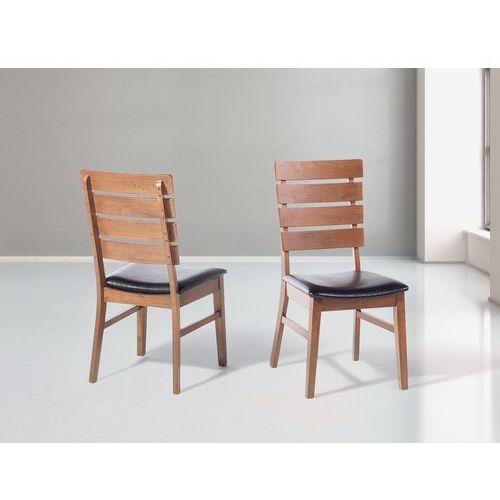 Krzesło brązowe - do jadalni - do kuchni - drewniane - DUMBO