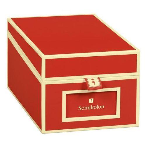 Pudełko na wizytówki Die Kante czerwone
