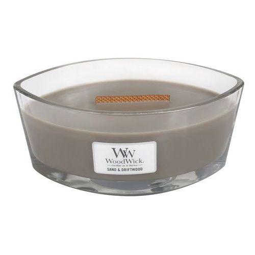 Woodwick - świeca hearthwick flame sand&driftwood 60h