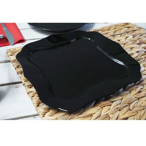 authentic black talerz płytki 25.5 cm marki Luminarc