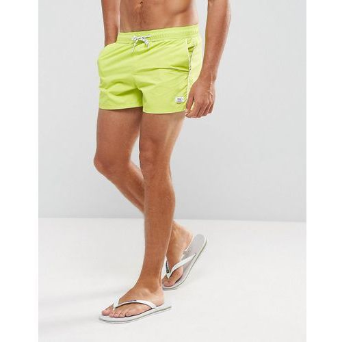 swim short in lime with contrast piping - green marki Bershka