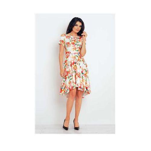 Sukienka model m104 flowers orange marki Infinite you