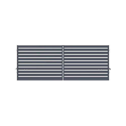 Brama dwuskrzydłowa SZAFIR 400 x 150 cm inteligentna z automatem POLARGOS (5902360120631)