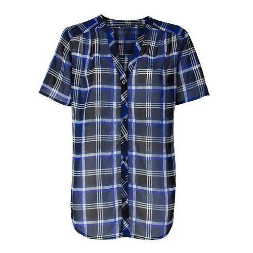 Bluzka bonprix ciemnoniebiesko-czarno-biało-niebieski, poliester