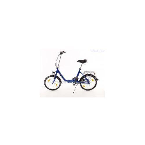 Aluminiowy rower składany składak niska rama mifa biria 3-biegi shimano, niebieski wyprodukowany przez Mifa germany
