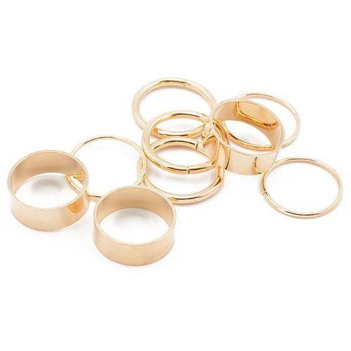 Pierścionki knuckle ring zestaw złote - złote marki Cloe
