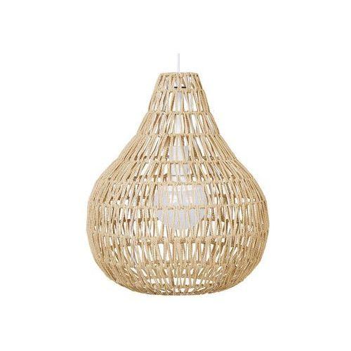 Lampa wisząca pleciona beżowa molopo marki Beliani