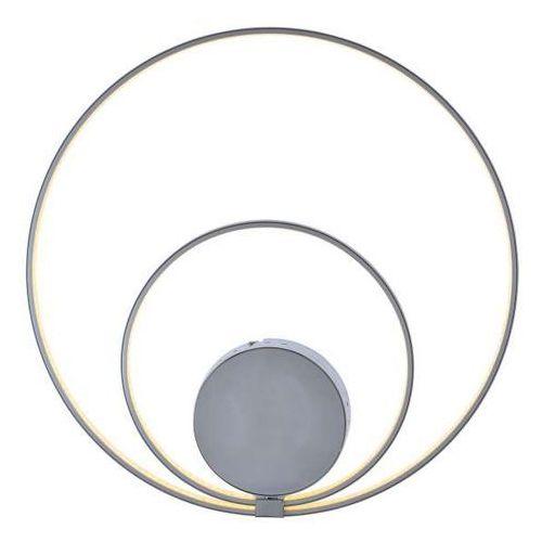 Kinkiet lampa ścienna loop line 1167159 okrągła oprawa metalowa nowoczesna led 30w spirala srebrna marki Nave