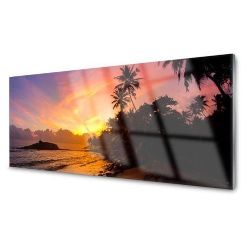 Obraz akrylowy morze słońce palmy krajobraz marki Tulup.pl