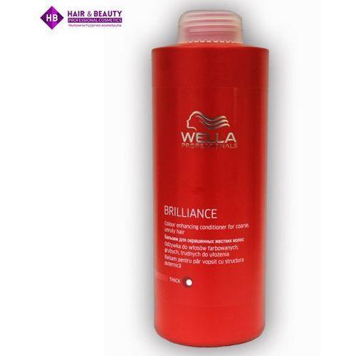 brilliance odżywka do włosów farbowanych, grubych, trudnych do ułożenia, 1000ml marki Wella