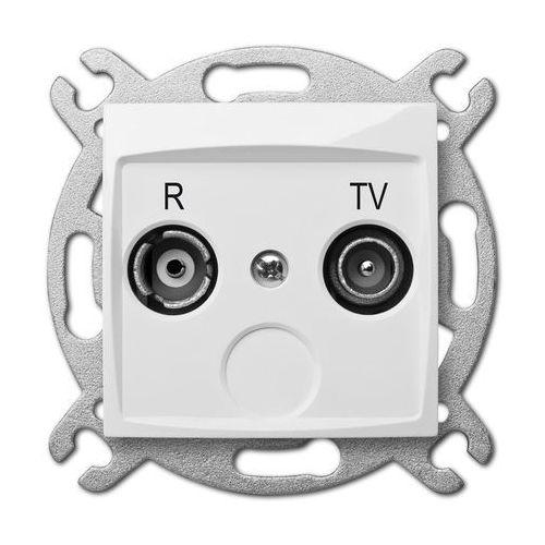 Elektro Plast Carla Gniazdo R-TV 14dB Biały - 1755-10 (gniazdko elektryczne)