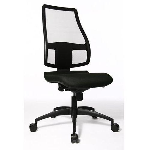 Krzesło obrotowe z siedziskiem nieckowym, wys. oparcia 680 mm, oparcie z przepus