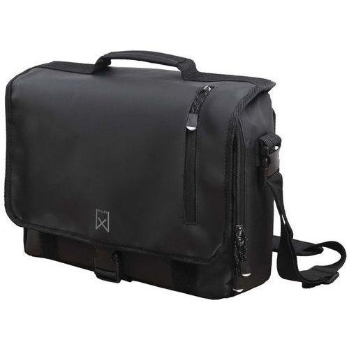 Willex torba listonoszka na rower, 17 l, czarna, 12102