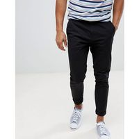 Burton Menswear Tapered Chino In Black - Navy