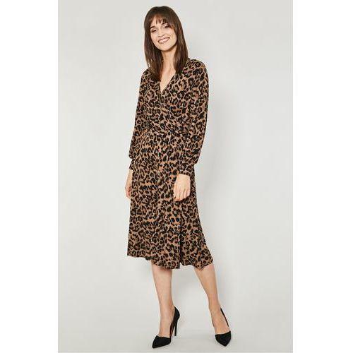 Click fashion Dzianinowa sukienka kopertowa melfi