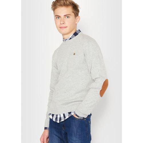 Sweter z długimi rękawami z łatami na łokciach, 10-16 lat