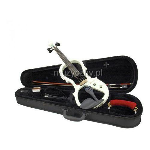 Dimavery  e-violin white- skrzypce elektryczne komplet, kolor biały
