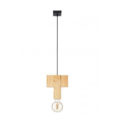 Lampa wisząca drewniana Montalbo Mabrillo- naturalny, drzewo sosna