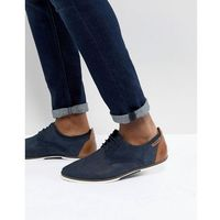 Pier One suede casual lace ups in navy - Navy