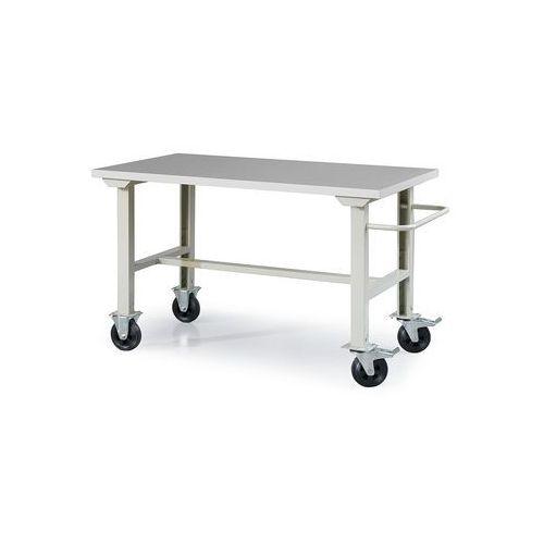 Mobilny stół roboczy SOLID 400, na kółkach, 1500x800 mm, laminat HPL, 23047